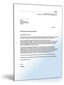 Bewerbungsschreiben Muster Praktikum Apotheke Anschreiben Bewerbung Assistent Apotheke Muster Zum