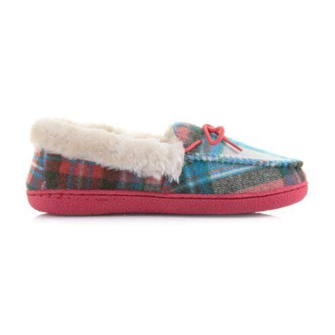 winter slippers womens womens winter warm comfort stylish check moccasins