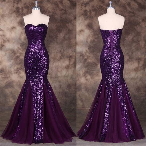 purple evening formal dresses overstock shopping purple sequins sweetheart mermaid evening dress pageant