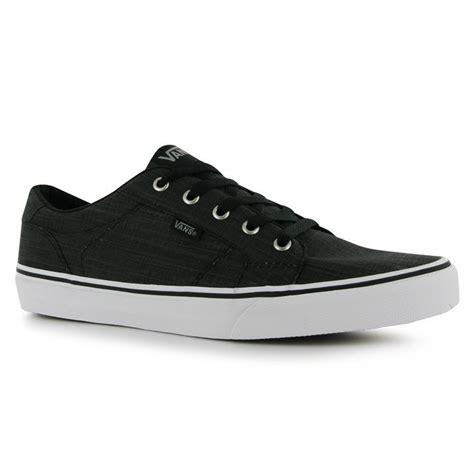 vans flat shoes vans mens bishop text skate shoe lace up trainers flat