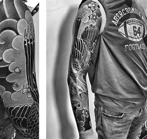 shaded sleeve tattoos for men 50 japanese cloud designs for floating ink ideas