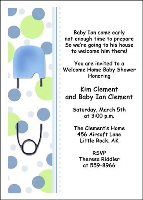 7 Best Images About Welcome Home Baby Shower On Pinterest Popular Home And Baby Showers Baby Welcome Invitation Templates