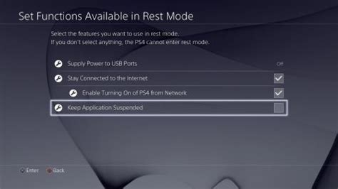 ps4 suspend feature is not turned on by default in