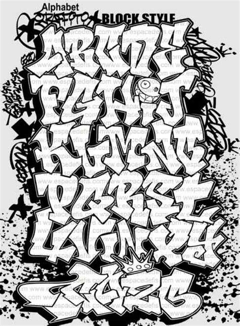 block style font graffiti alphabet letter a z at graffiti