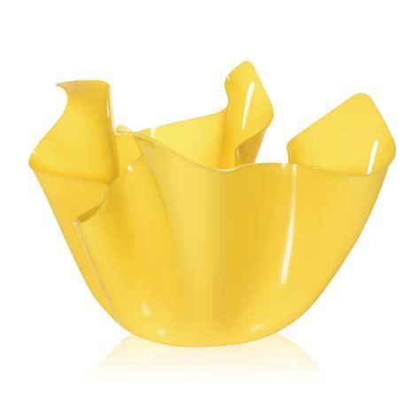vaso da interno vaso giallo da interno esterno design drappeggiato pina