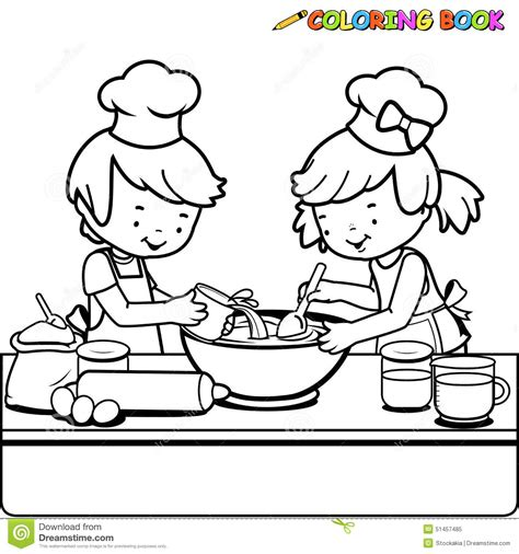 Free Coloring Pages Of Cook Cooking Coloring Page
