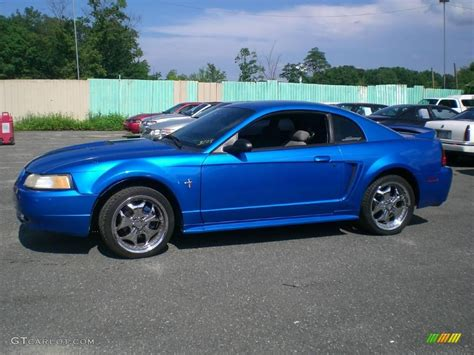 2000 bright atlantic blue metallic ford mustang v6 coupe