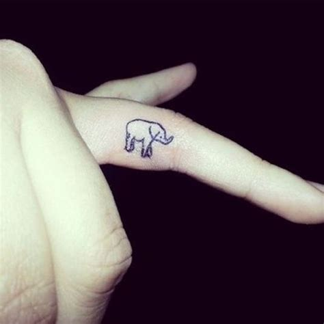 tattoo giraffe finger 51 cute and impressive elephant tattoo ideas