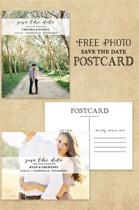 free wedding save the date postcard templates category printables simply unique weddings events