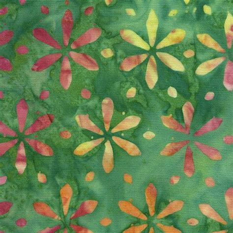 770gkp01 Kemeja Batik Green Floral green batik lime green pink flower fabric by timeless treasures flower fabric fabric shop modes4u