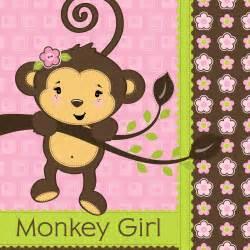 Girl monkey theme baby shower