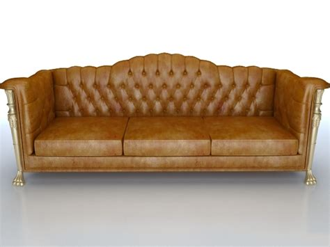 free leather couch classic leather sofa couch 3d model 3dsmax files free