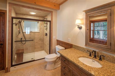 lake house bathroom ideas new hshire lake house rustic bathroom boston by