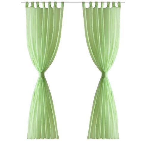tenda trasparente articoli per tenda trasparente colore mela verde 140 x 175
