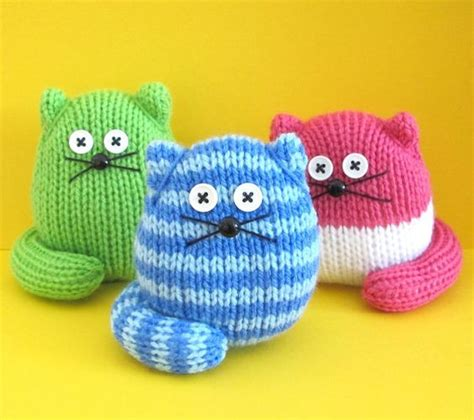 cat knitting pattern download quick and easy cats instant download pdf knitting