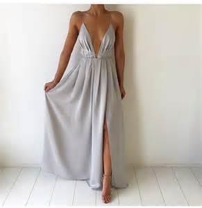 Gray prom dresses v neck prom dresses cheap prom dresses grad dresses