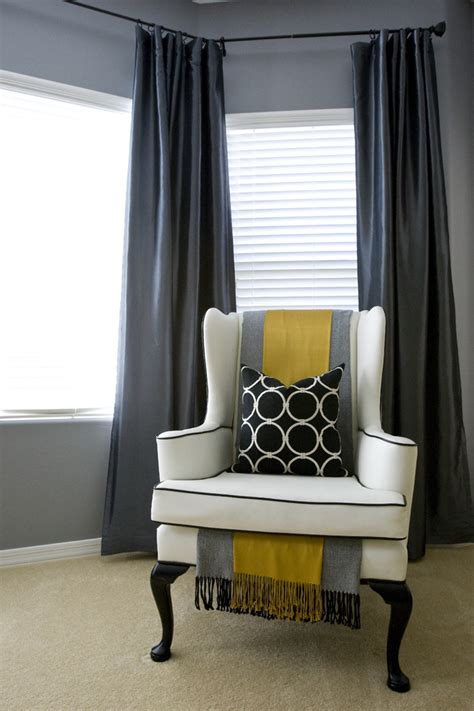 Gray And Yellow Chair Design Ideas Great Gray Wing Chair Slipcover Decorating Ideas Gallery In Bedroom Contemporary Design Ideas