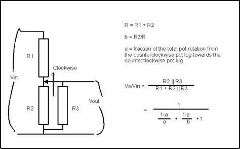 resistor in parallel with potentiometer mimicing an audio taper pot with linear taper pot