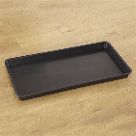 buy rectangular plastic black tray tts