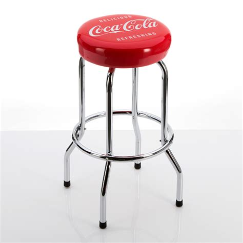 Coca Cola Bar Stool by Beverage Branded Padded Barstools