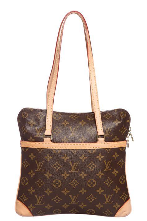 louis vuitton brown tan monogram shoulder bag