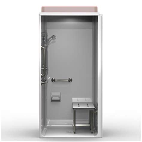 ada shower stall best bath systems video 5piece ada transfer shower one piece 40x38 smooth wall look