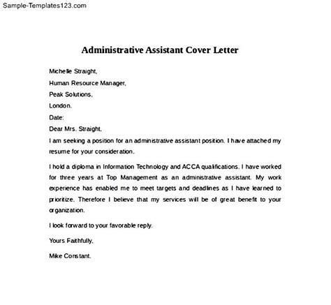 support assistant cover letter buy original essay cover letter for administrative assistant