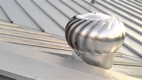 standing seam galvalume metal roof  rotating vent youtube