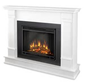 Portable Electric Fireplace 48 Quot Silverton White Electric Fireplace