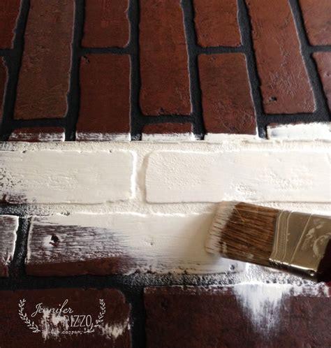 painting faux brick paneling faux brick wall fireplace mantel backdrop rizzo