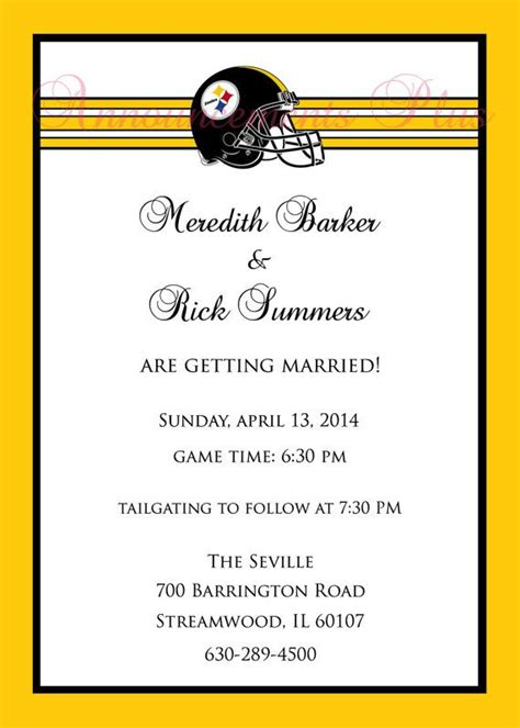 football theme wedding invitation any team by announcementsplus 15 00 wedding invitation
