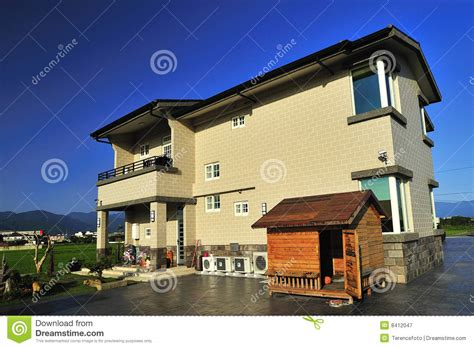 how big should a dog house be big house with a dog house royalty free stock photography image 8412047