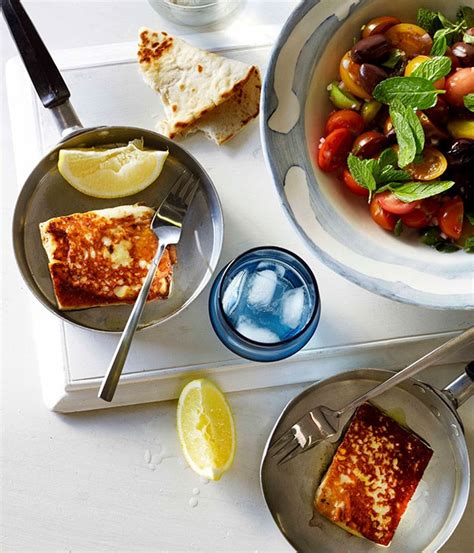 Fast Easy Dinner Salad With Saganaki by Tomato Recipes Image18 Gourmet Traveller