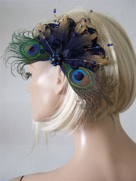 black red and gold peacock fascinator you fascinate me so pinter bridal navy gold goose nagoire and peacock feathers with