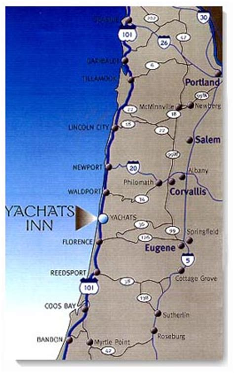map of yachats oregon map and directions to yachats inn