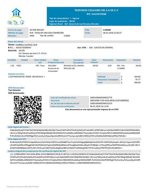 factura electronica generar nomina formato de factura electr 243 nica anexo 20 versi 243 n 3 3