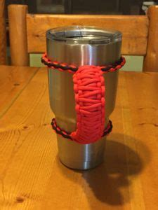 paracord yeti handle   tumbler wild wolf pack