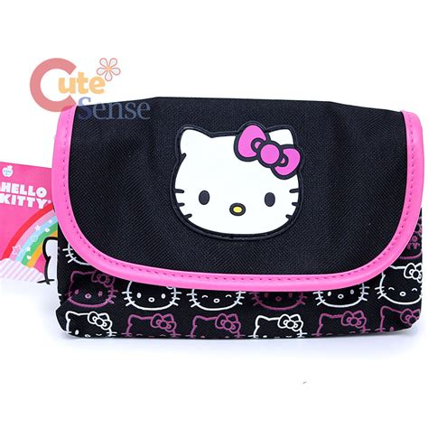 Hello Make Up Pouch hello kiitty cosmetic pouch make up bag with mirror sanrio licensed