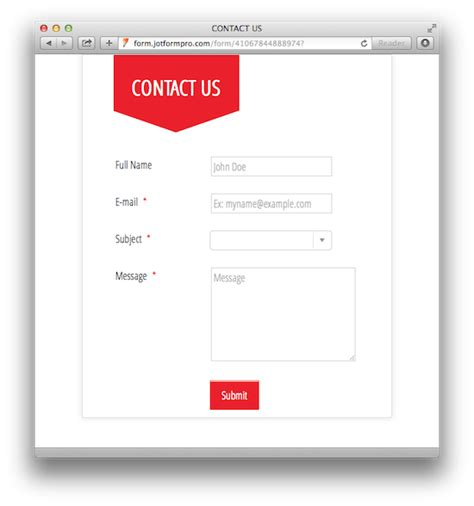 contact us php template 20 amazing looking free form templates jotform