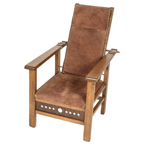 antique recliner chairs antique oak child s morris chair at 1stdibs