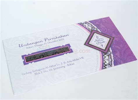 Murah Wedges Kokop Motif Bunga Order Sekarang undangan pernikahan murah cantik pc33 banjar wedding banjar wedding