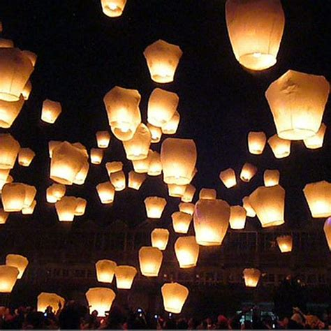Paper Lanterns For Candles - 2 pcs sky lantern fly kites paper balloon