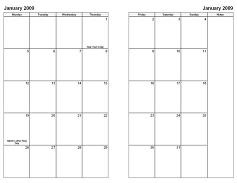 2 page monthly calendar template free printable month calendars search results