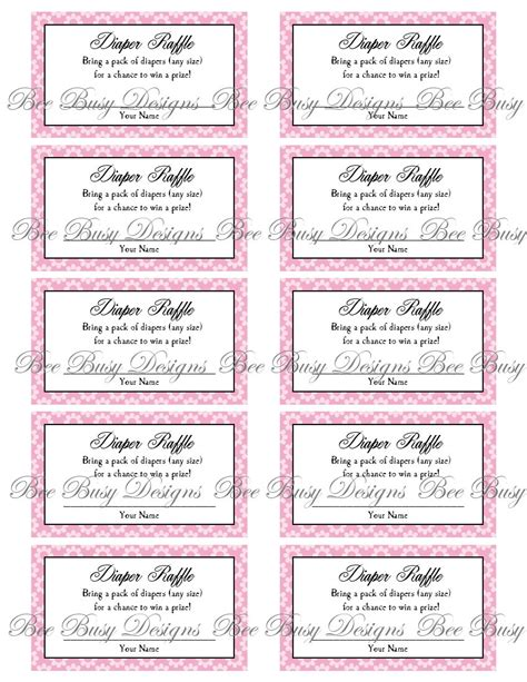 baby shower raffle template 9 best images of raffle free printables free