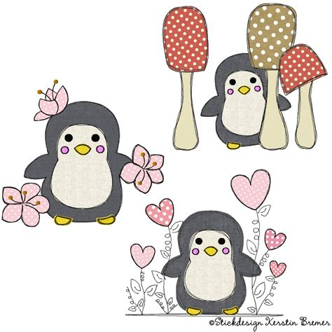 Pinguin Set pinguin garten doodle set kerstinbremer de