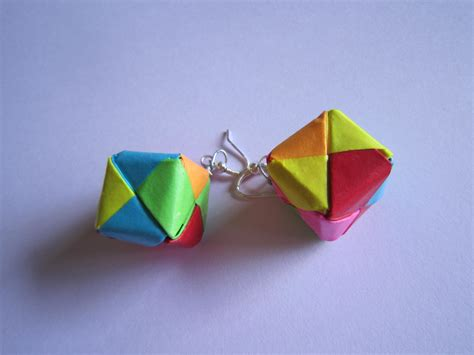 Handmade Origami Paper - handmade jewelry origami paper box earrings shopping