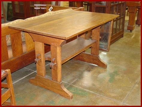 Voorhees Craftsman Mission Oak Furniture   Gustav Stickley Trestle Table