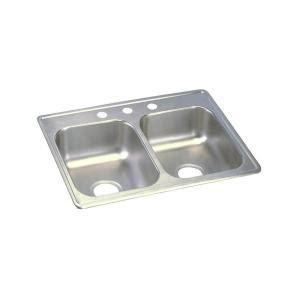 elkay lkdc2085 10 3 8 single handle kitchen faucet in chrome elkay dayton drop in stainless steel 25 in 3 hole double