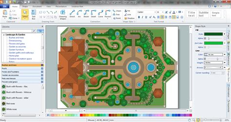 landscape design software draw landscape deck and patio