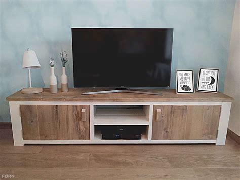 tv kastjes eiken steigerhouten tv meubel landelijk tv kast van steigerhout